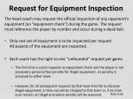 request for equipment inspection