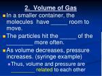 2 volume of gas