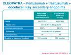 cleopatra pertuzumab trastuzumab docetaxel key secondary endpoints