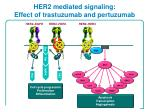 her2 mediated signaling effect of trastuzumab and pertuzumab