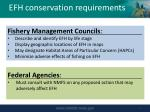 efh conservation requirements