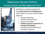 magnuson stevens fishery conservation management act