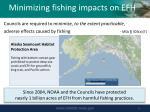 minimizing fishing impacts on efh