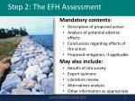 step 2 the efh assessment