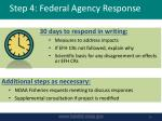step 4 federal agency response