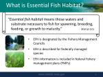 what is essential fish habitat