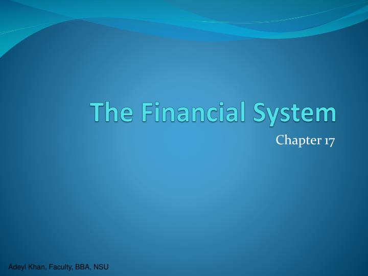 the financial system n.