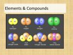 elements compounds