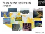 risk to habitat structure and function