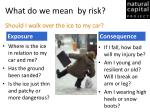 what do we mean by risk