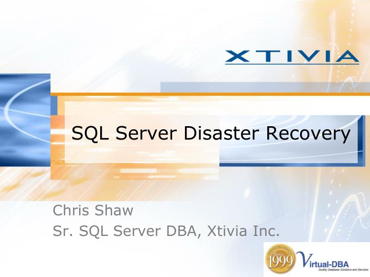 sql server disaster recovery n.