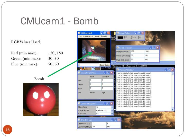 CMUcam1 - Bomb