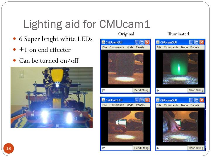 Lighting aid for CMUcam1