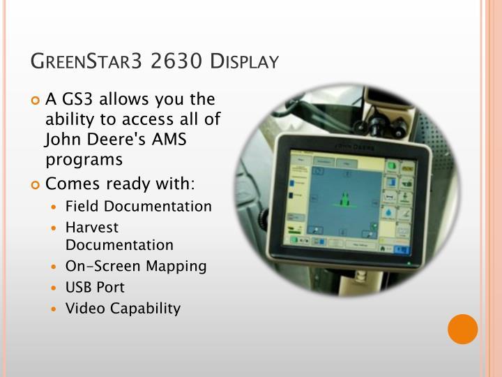 GreenStar3 2630 Display