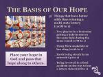 the basis of our hope