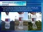 athmospheric pressure example