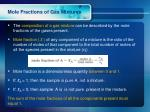 mole fractions of gas mixtures