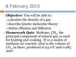 6 february 2012