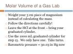 molar volume of a gas lab