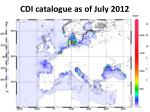 cdi catalogue as of july 2012