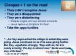 cleopas 1 on the road
