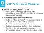 cbd performance measures