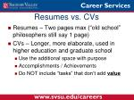 resumes vs cvs