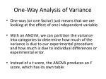 one way analysis of variance1