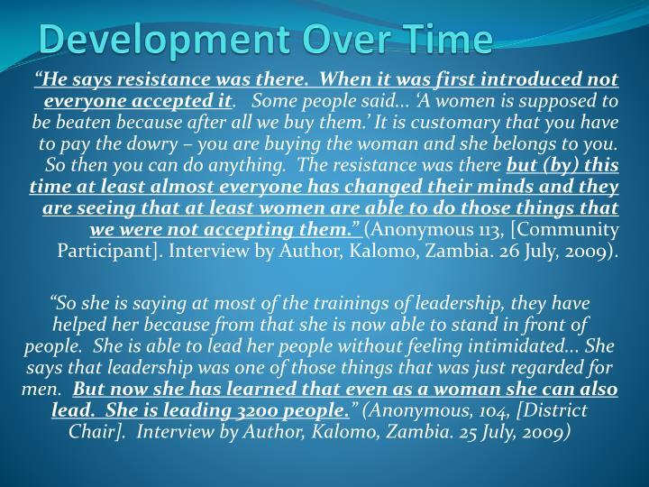Development Over Time
