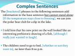 complex sentences1