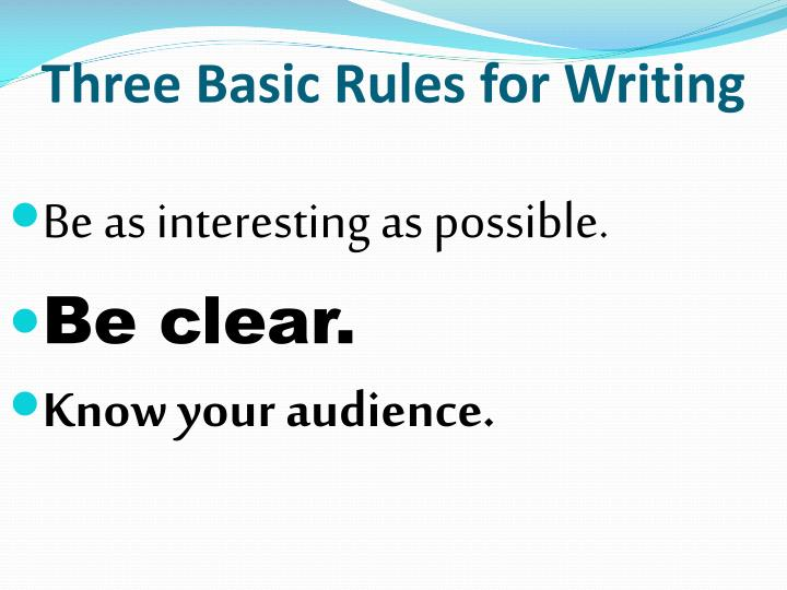 basic rules essay writing Formatting is an efficient part of academic writing process you can't finish a paper and submit it for grading without paper formatting each paper has a specific structure and each style has a set of rules.