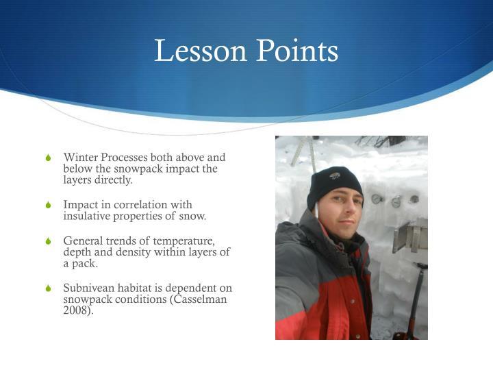 Lesson Points