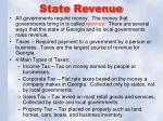 state revenue