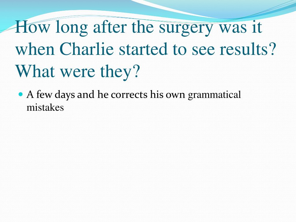 PPT , Flowers for Algernon Chapters 1,8 PowerPoint