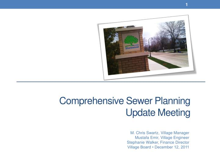 comprehensive sewer planning update meeting n.