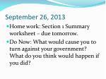 september 26 2013