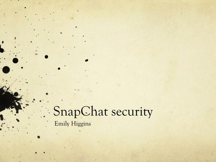 snapchat security n.