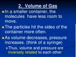 2 volume of gas