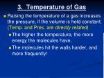 3 temperature of gas