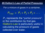 6 dalton s law of partial pressures