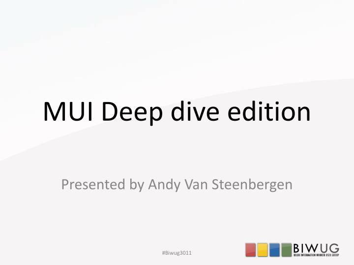 mui deep dive edition n.