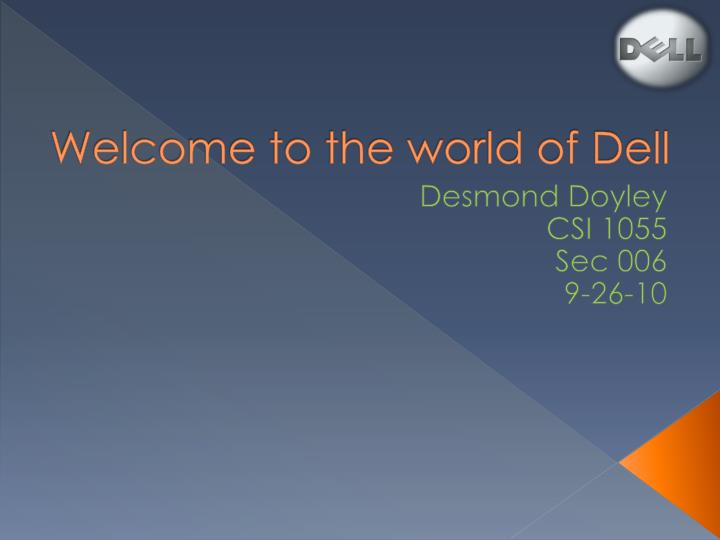 welcome to the world of dell n.
