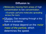 diffusion is