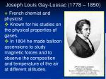 joseph louis gay lussac 1778 1850