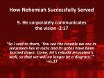how nehemiah successfully served8