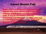 about mount f uji
