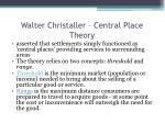 walter christaller central place theory