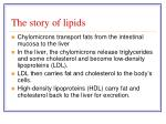 the story of lipids