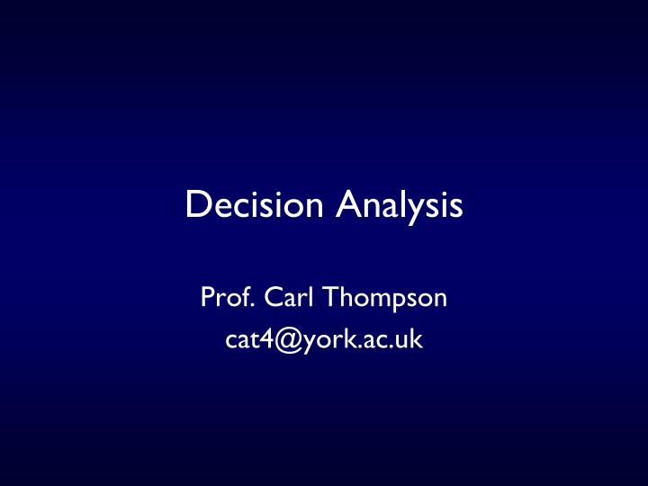 decision analysis n.