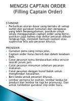 mengisi captain order filling captain order